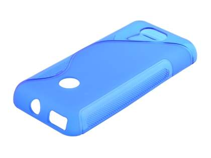 Wave Case for Nokia 208 - Frosted Blue/Blue Soft Cover