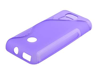 Wave Case for Nokia 208 - Frosted Purple/Purple Soft Cover