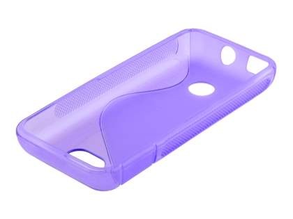 Wave Case for Nokia 208 - Frosted Purple/Purple