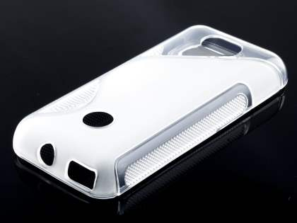 Wave Case for Nokia 208 - Frosted Clear/Clear Soft Cover