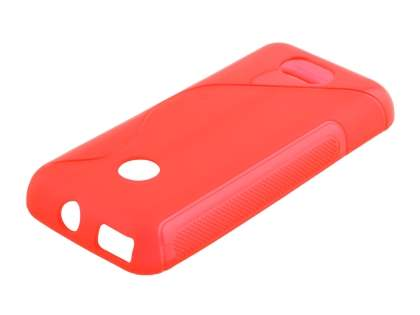 Wave Case for Nokia 208 - Frosted Red/Red Soft Cover
