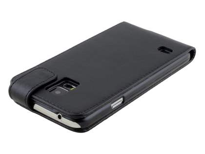 Samsung Galaxy S5 Synthetic Leather Flip Case - Black