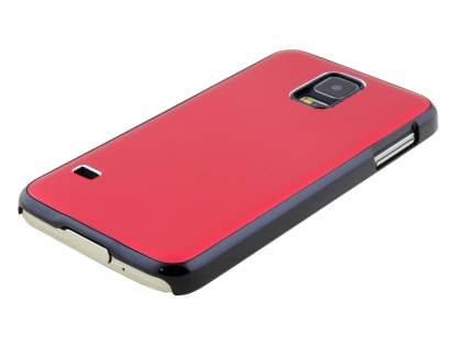 Brushed Aluminium Case for Samsung Galaxy S5 - Red/Black