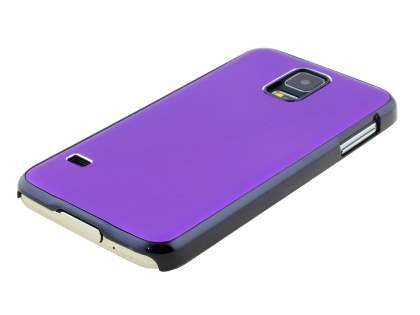 Brushed Aluminium Case for Samsung Galaxy S5 - Purple/Black