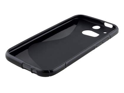 HTC One M8 Wave Case - Frosted Black/Black