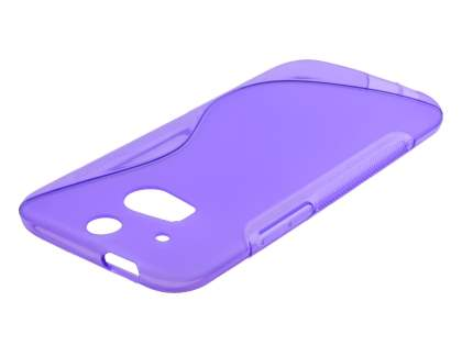 HTC One M8 Wave Case - Frosted Purple/Purple