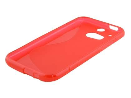 HTC One M8 Wave Case - Frosted Red/Red