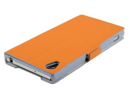 Sony Xperia Z2 Slim Genuine Leather Portfolio Case - Orange