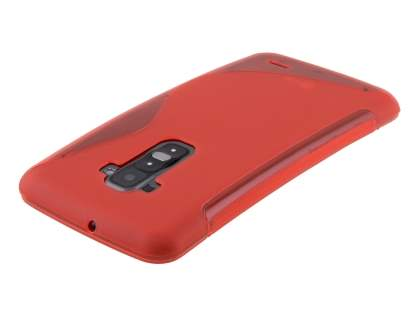 Wave Case for LG G Flex - Frosted Red/Red