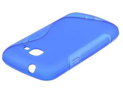 Wave Case for Samsung Galaxy Fresh S7390 - Frosted Blue/Blue