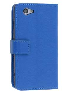 Synthetic Leather Wallet Case with Stand for Sony Xperia Z1 Compact - Blue Leather Wallet Case