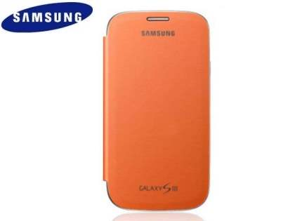 Genuine Samsung Flip Cover for Samsung I9300 Galaxy S3 - Orange