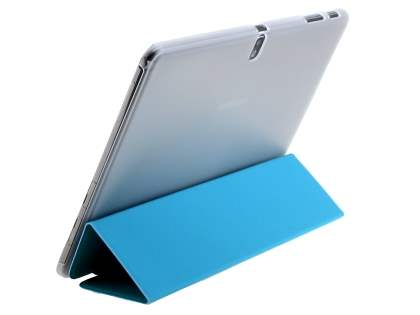 Samsung Galaxy Note Pro 12.2 Book-Style Case with Stand - Teal/Frosted Clear