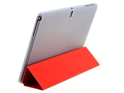 Book-Style Case with Stand for Samsung Galaxy Note Pro 12.2 - Red/Frosted Clear Leather Flip Case