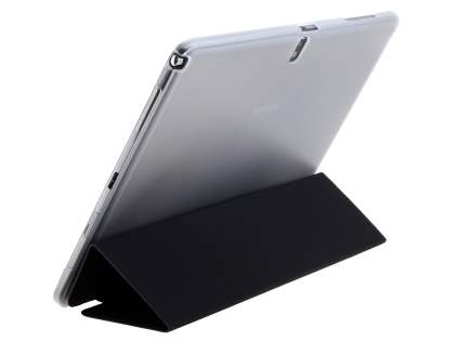 Book-Style Case with Stand for Samsung Galaxy Tab Pro 10.1 - Black/Frosted Clear