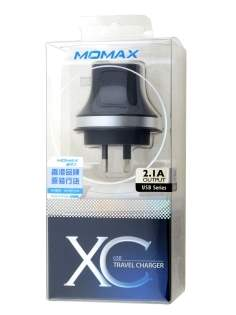 Momax 2.1A XC USB Travel Charger - Classic Black AC Wall Charger