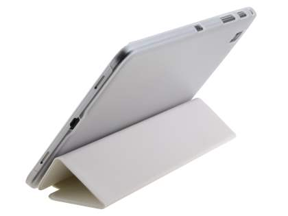 Samsung Galaxy Tab Pro 8.4 Book-Style Case with Stand - White/Frosted Clear
