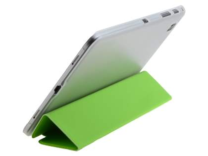 Samsung Galaxy Tab Pro 8.4 Book-Style Case with Stand - Green/Frosted Clear