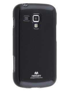Mercury Goospery Glossy Gel Case for Samsung Galaxy Trend Plus S7583T - Classic Black Soft Cover