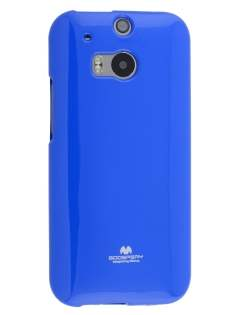 Mercury Goospery Glossy Gel Case for HTC One M8 - Blue Soft Cover