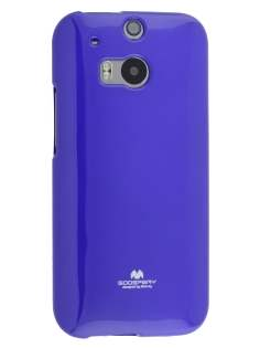 Mercury Goospery Glossy Gel Case for HTC One M8 - Purple Soft Cover