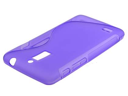 Wave Case for Huawei Ascend G526 - Frosted Purple/Purple Soft Cover