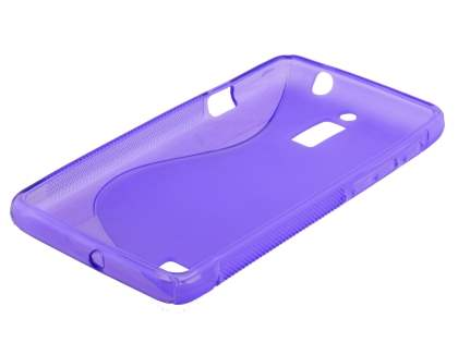 Wave Case for Huawei Ascend G526 - Frosted Purple/Purple
