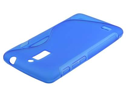 Wave Case for Huawei Ascend G526 - Frosted Blue/Blue Soft Cover