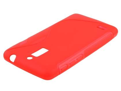 Wave Case for Huawei Ascend G526 - Frosted Red/Red Soft Cover