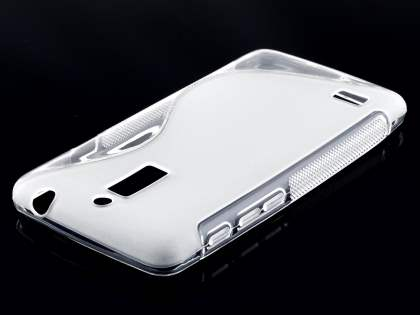 Wave Case for Huawei Ascend G526 - Frosted Clear/Clear Soft Cover