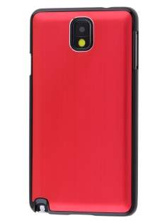 Brushed Aluminium Case for Samsung Galaxy Note 3 - Red/Black
