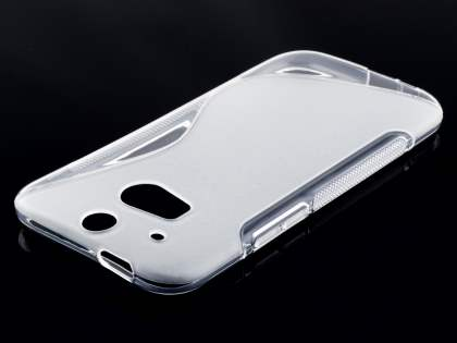 Wave Case for HTC One M8 - Frosted Clear/Clear