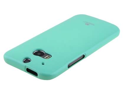 Mercury Glossy Gel Case for HTC One M8 - Mint Green