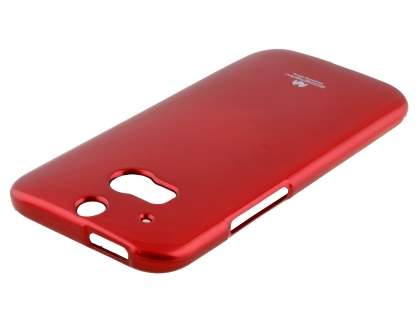 Mercury Glossy Gel Case for HTC One M8 - Red