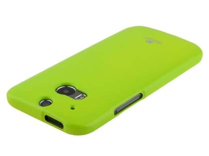 Mercury Glossy Gel Case for HTC One M8 - Lime