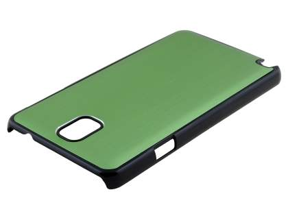 Brushed Aluminium Case for Samsung Galaxy Note 3 - Green/Black