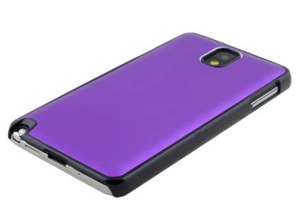 Brushed Aluminium Case for Samsung Galaxy Note 3 - Purple/Black