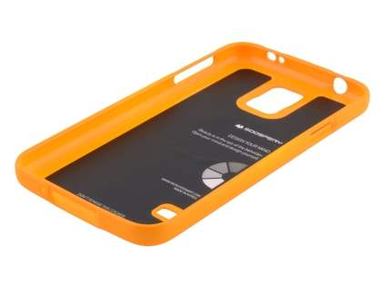 Mercury Glossy Gel Case for Samsung Galaxy S5 - Orange