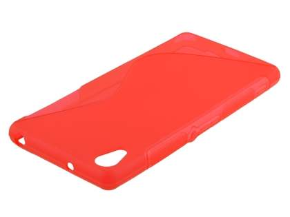 Sony Xperia Z2 Wave Case - Frosted Red/Red