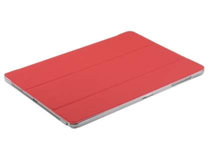 Book-Style Case with Stand for Samsung Galaxy Note Pro 12.2 - Red/Frosted Clear