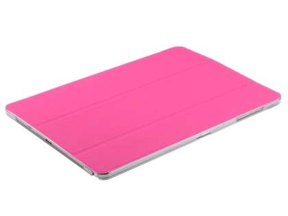 Samsung Galaxy Note Pro 12.2 Book-Style Case with Stand - Hot Pink/Frosted Clear