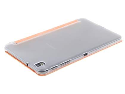 Samsung Galaxy Tab Pro 8.4 Book-Style Case with Stand - Orange/Frosted Clear