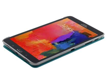 Samsung Galaxy Tab Pro 8.4 Book-Style Case with Stand - Teal/Frosted Clear