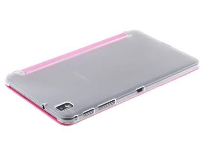 Samsung Galaxy Tab Pro 8.4 Book-Style Case with Stand - Hot Pink/Frosted Clear