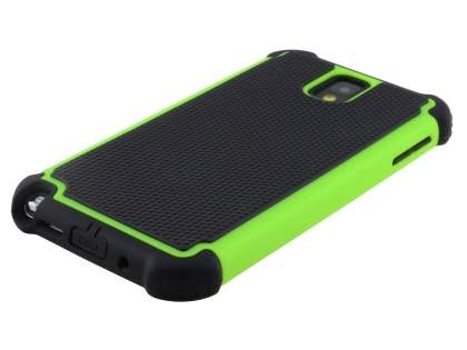 Samsung Galaxy Note 3 Impact Case - Green/Classic Black