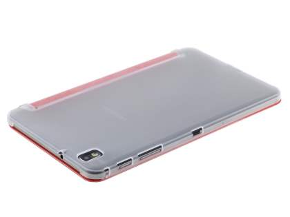 Book-Style Case with Stand for Samsung Galaxy Tab Pro 8.4 - Red/Frosted Clear