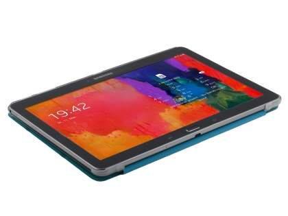 Book-Style Case with Stand for Samsung Galaxy Tab Pro 10.1 - Teal/Frosted Clear