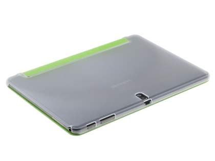 Samsung Galaxy Tab Pro 10.1 Book-Style Case with Stand - Green/Frosted Clear