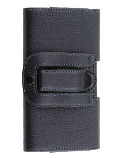 Textured Synthetic Leather Belt Pouch for Sony