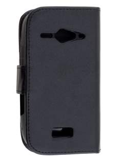 ZTE T83 Telstra Dave Synthetic Leather Wallet Case - Classic Black